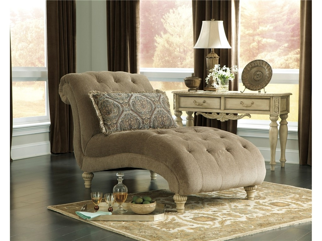 Famous Damask Chaise Lounge Chairs Throughout Living Room : Beautiful Chaise Lounge Indoor Chair With Yellow (View 9 of 15)