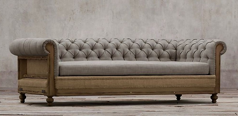 Famous Deconstructed Chesterfield Sofa Inside Chesterfield Sofas (View 7 of 10)