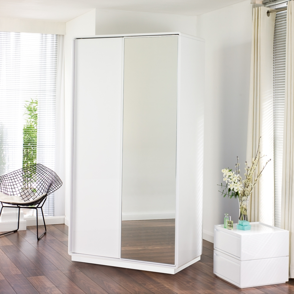 Famous Double Wardrobes With Mirror Regarding Mirror Sliding Wardrobe Doors 2 Door Mirrored B&q Double With This (View 7 of 15)
