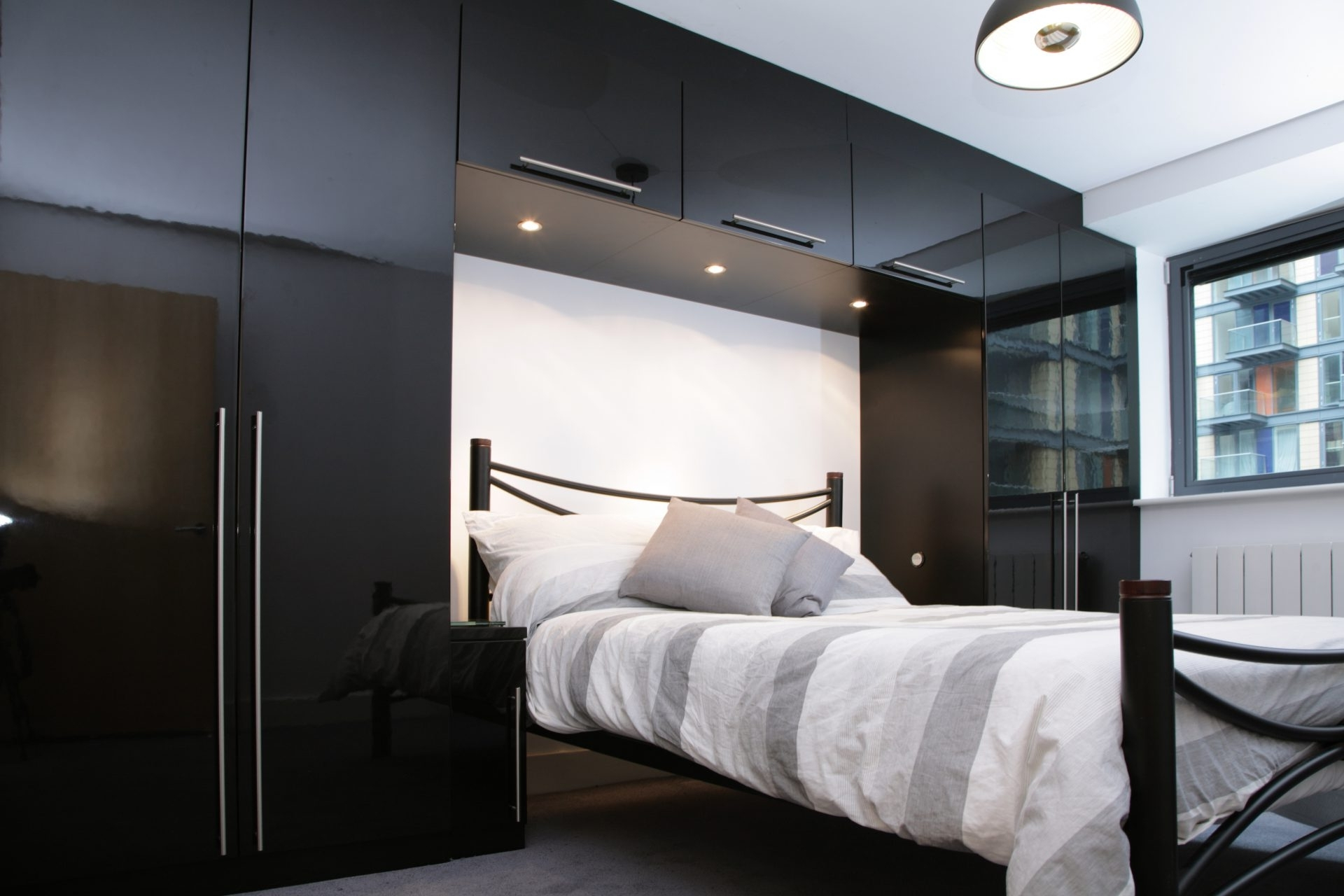 Contemporary Bedroom Set London Black By Acme Furniture: Best 15+ Of Over Bed Wardrobes Sets