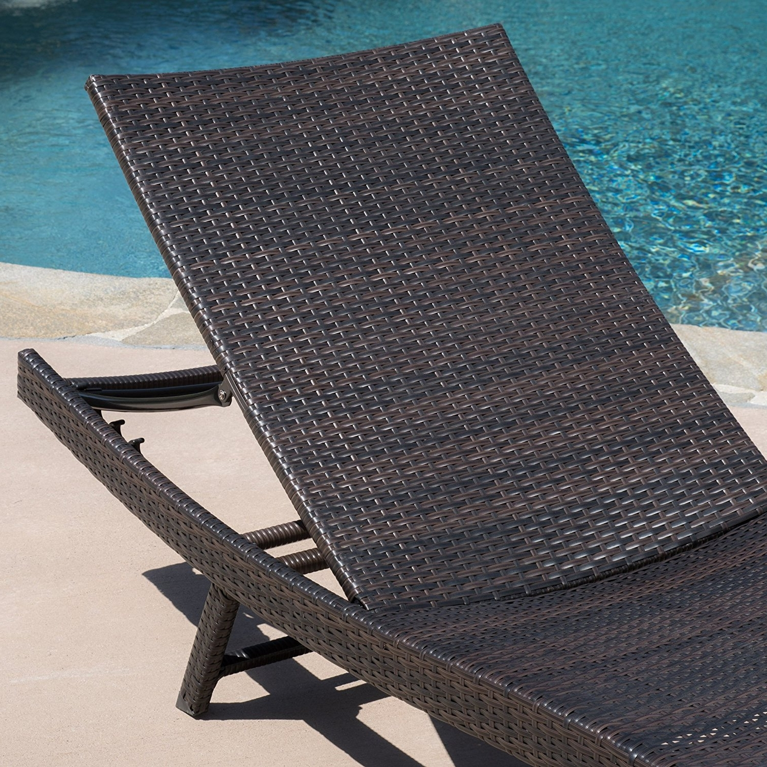 Famous Eliana Outdoor Brown Wicker Chaise Lounge Chairs Pertaining To Amazon: Eliana Outdoor Brown Wicker Chaise Lounge Chairs (Set (View 8 of 15)