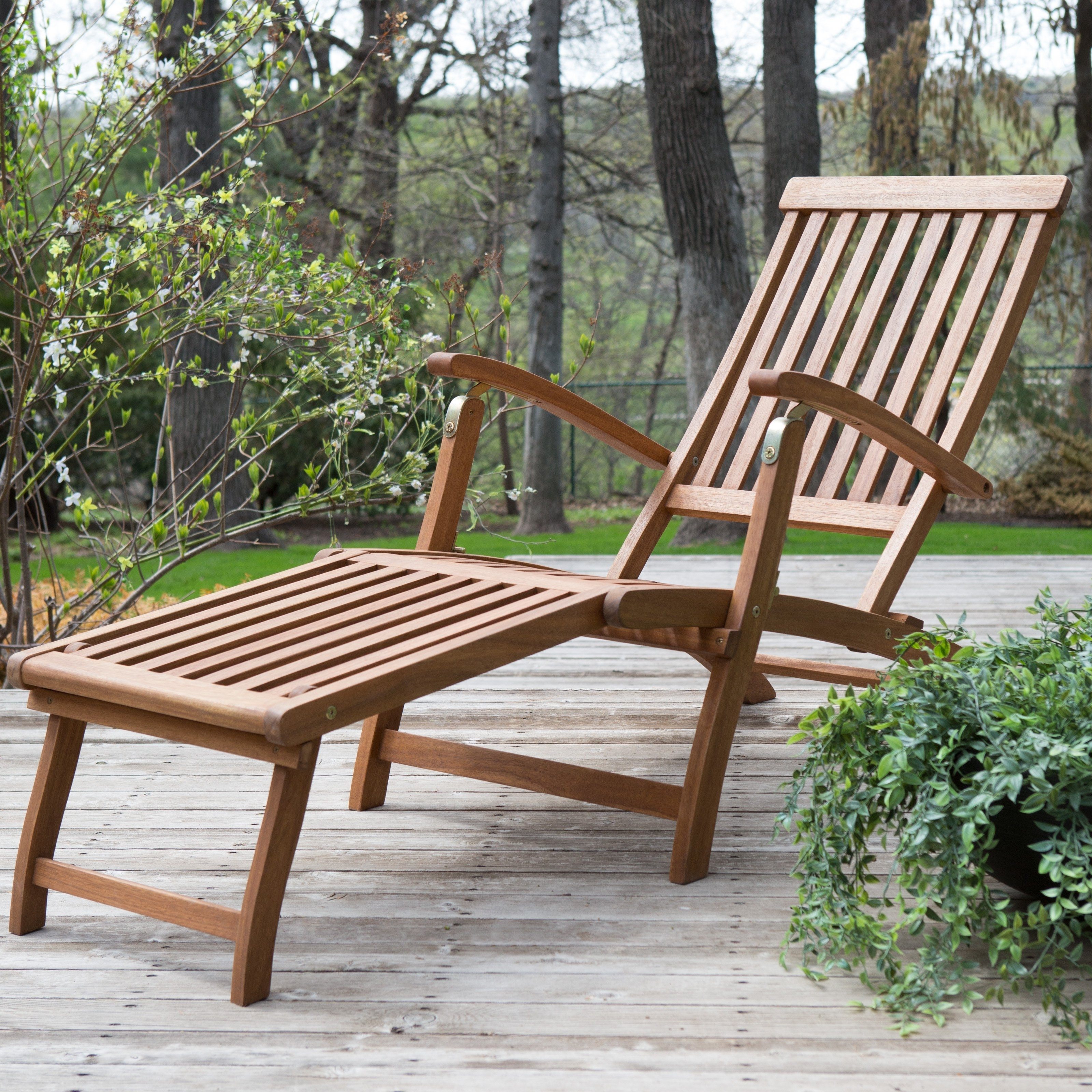 Famous Hardwood Chaise Lounge Chairs In Coral Coast Dorado Acacia Steamer Deck Lounge Chair (View 14 of 15)