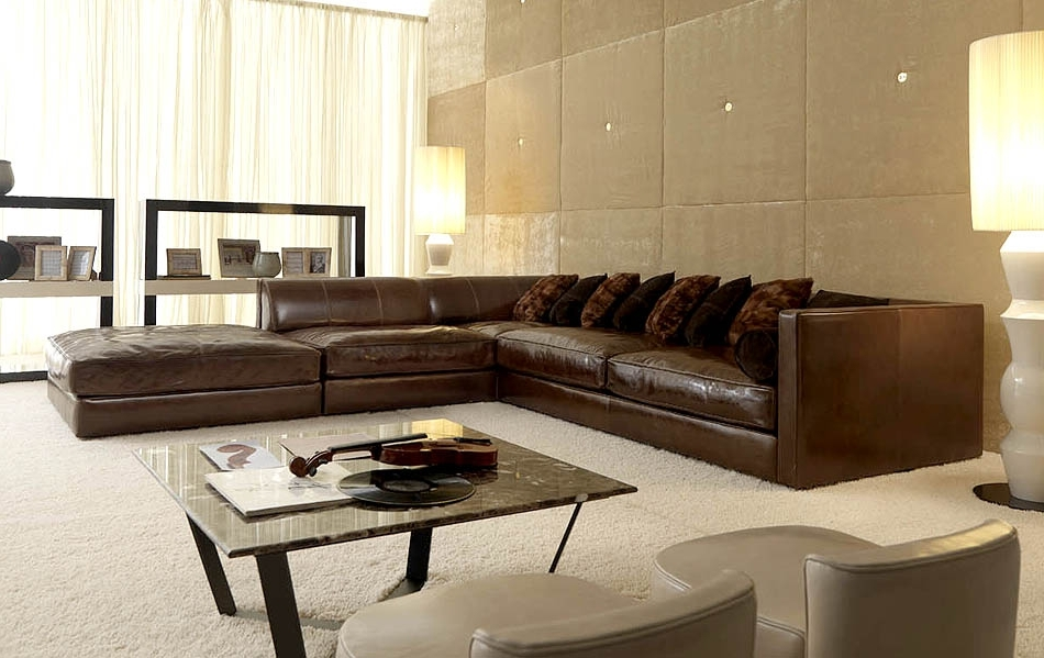 Famous Leather Modular Sectional Sofas In Wonderful Modular Leather Sectional Sofa Leather Sectional Sofa (View 3 of 10)