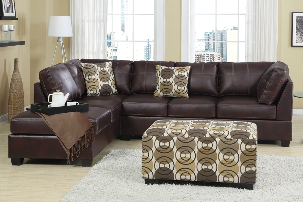 Famous Leather Sofas With Chaise Intended For Brown Leather Couch With Chaise And Tufted Back For Small Modern (View 15 of 15)