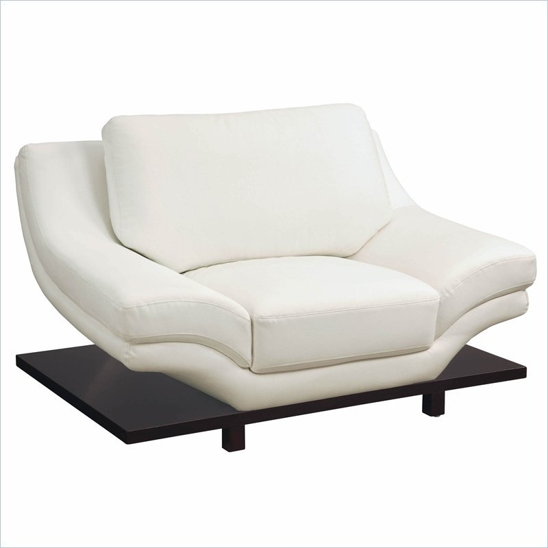 Famous Leather White Chair (View 5 of 10)