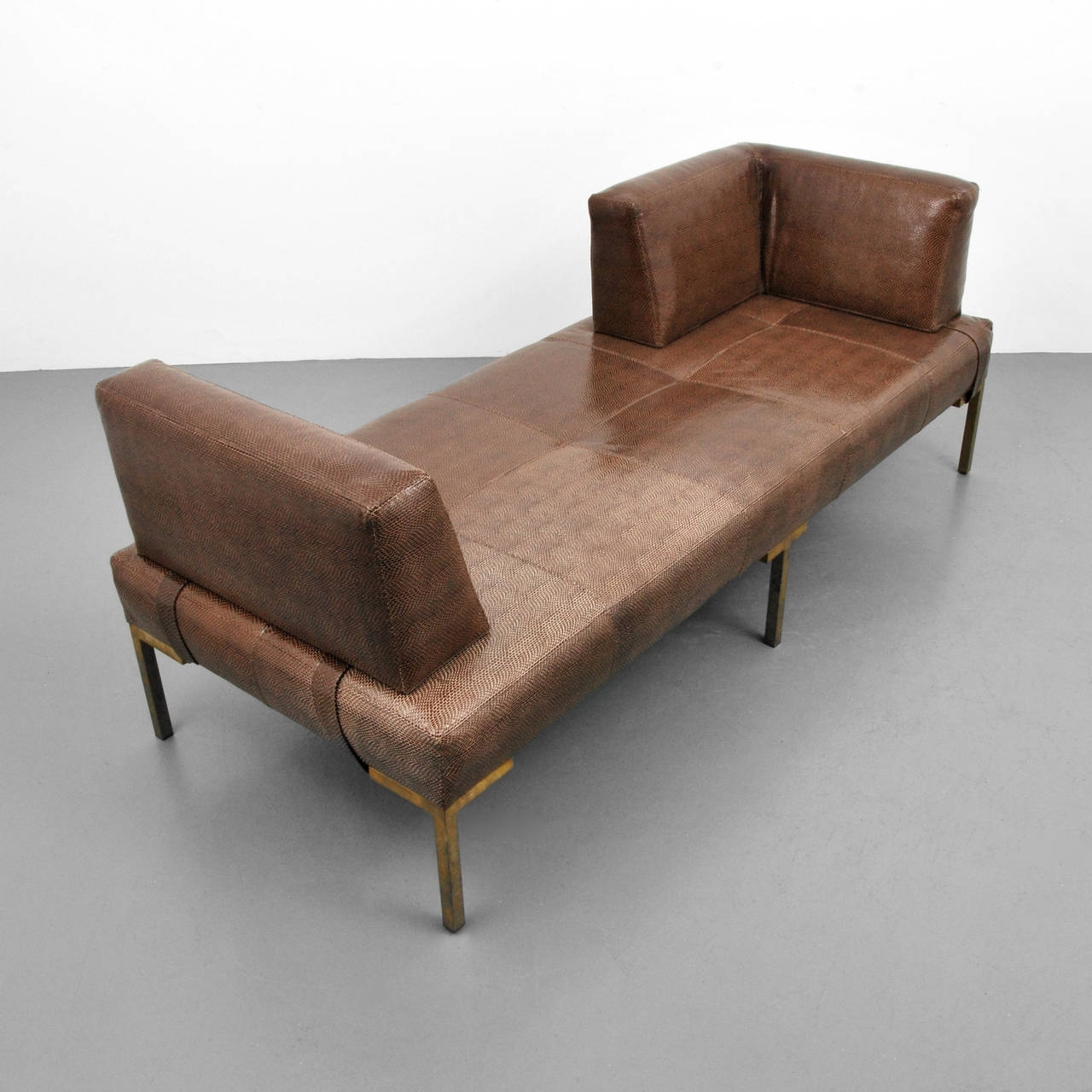 Famous Modern Chaises In Luigi Gentile Leather Daybeds Or Chaise Lounges, Two Available (View 5 of 15)