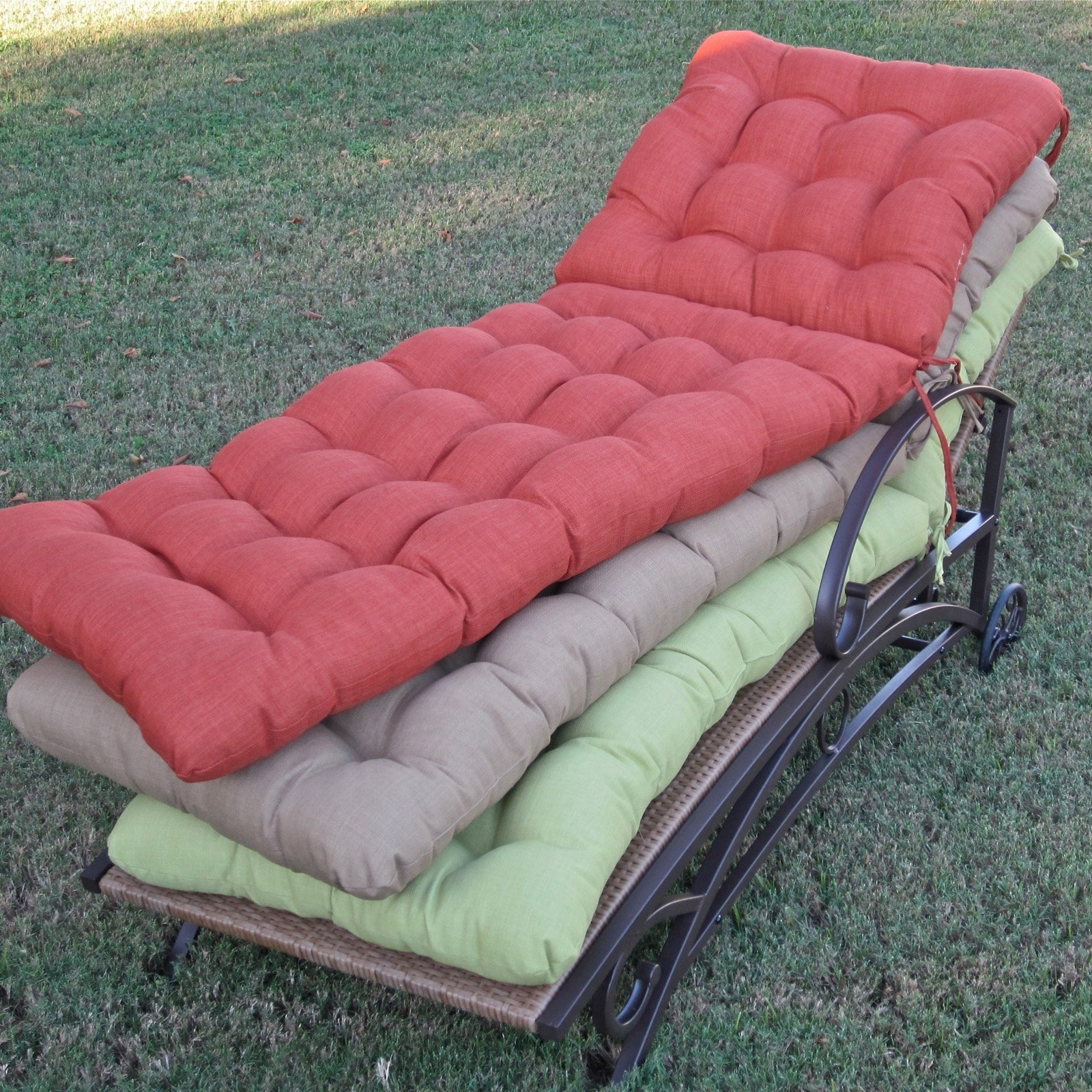 Famous Outdoor Chaise Cushions For Blazing Needles 73 X 23 In (View 4 of 15)