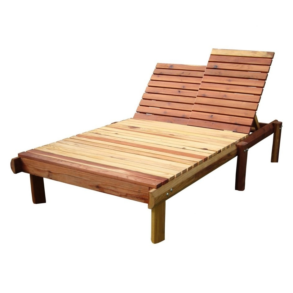 15 Best Collection of Wood Chaise Lounge Chairs