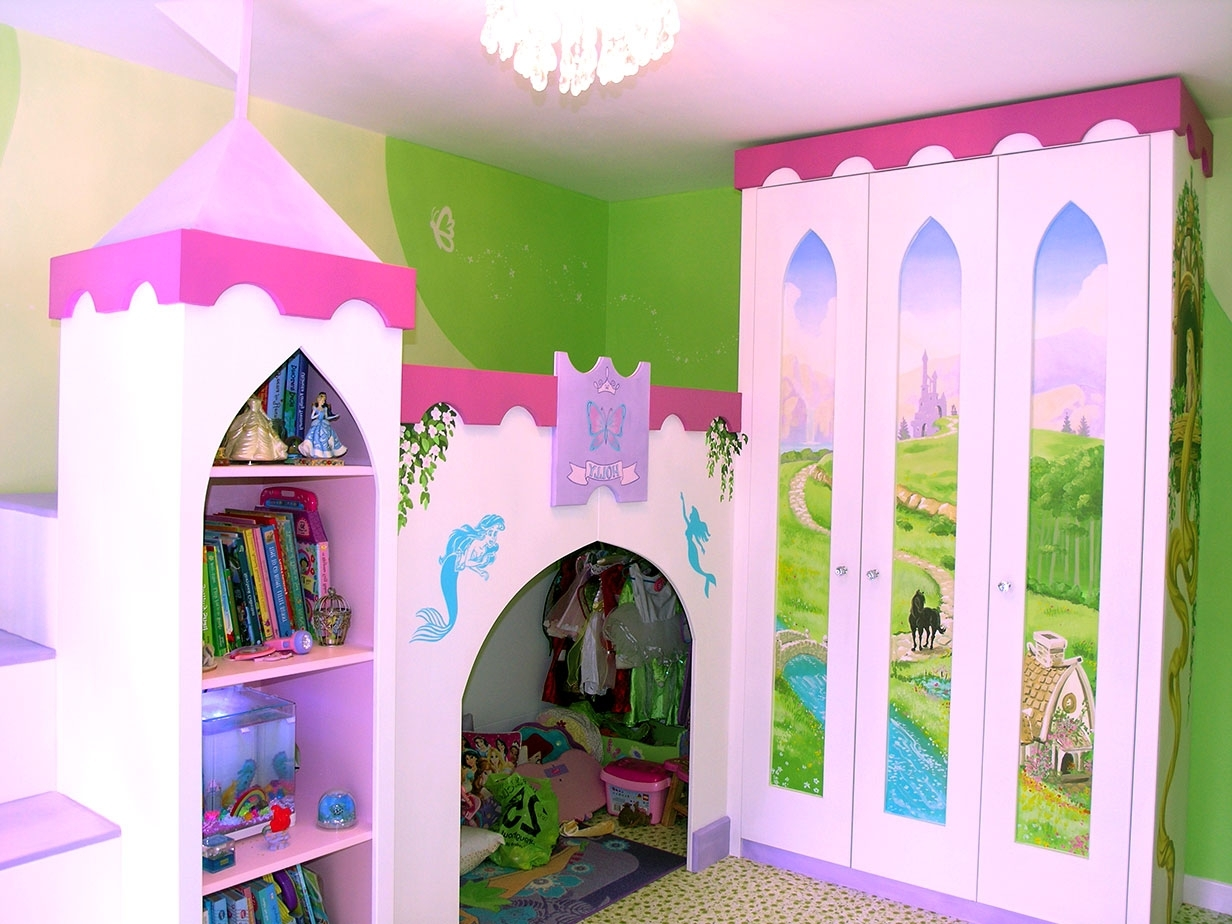 Famous Princess Wardrobes Within Disney Princesses In Castle Bedroom (View 4 of 15)