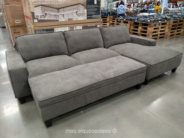 Famous Sectional Sofa Design: Elegant Sectional Sofa With Chaise Costco With Regard To Sofas With Chaise And Ottoman (View 3 of 10)