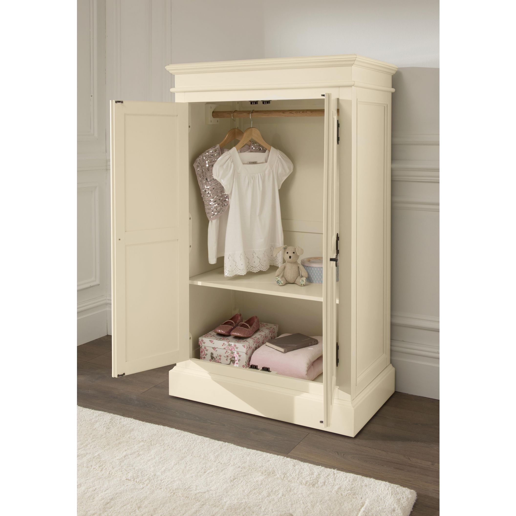 Famous Shabby Chic Small Wardrobe With Regard To Small Wardrobes (View 1 of 15)