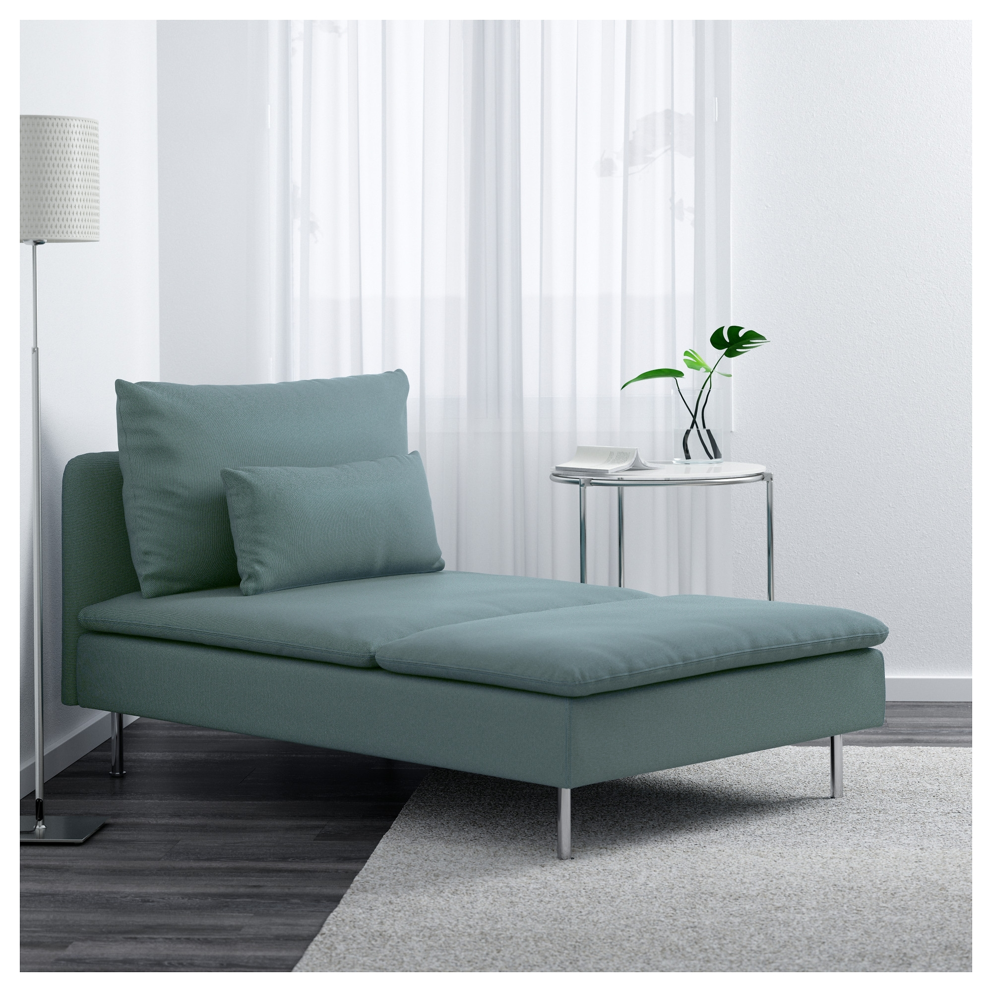 Famous Söderhamn Chaise Longue – Finnsta Turquoise – Ikea Regarding Ikea Chaise Longues (View 3 of 15)