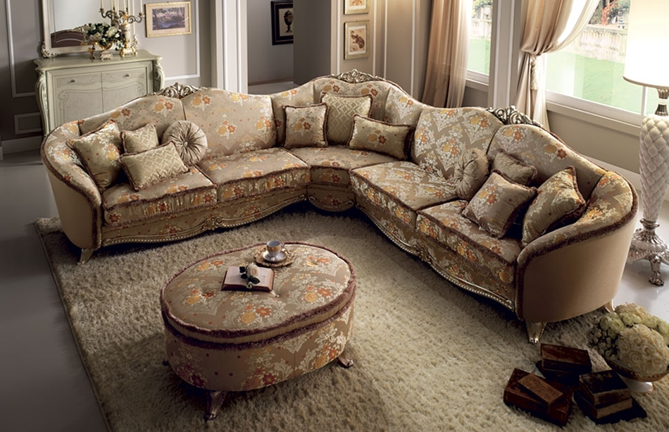 Famous Sofa : Elegant Large Traditional Sofa Charming With Sofas Intended For Elegant Sectional Sofas (View 6 of 10)