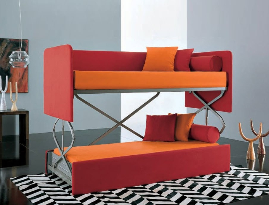 Famous Space Saving Sleepers: Sofas Convert To Bunk Beds In Seconds With Sofa Bunk Beds (View 3 of 10)