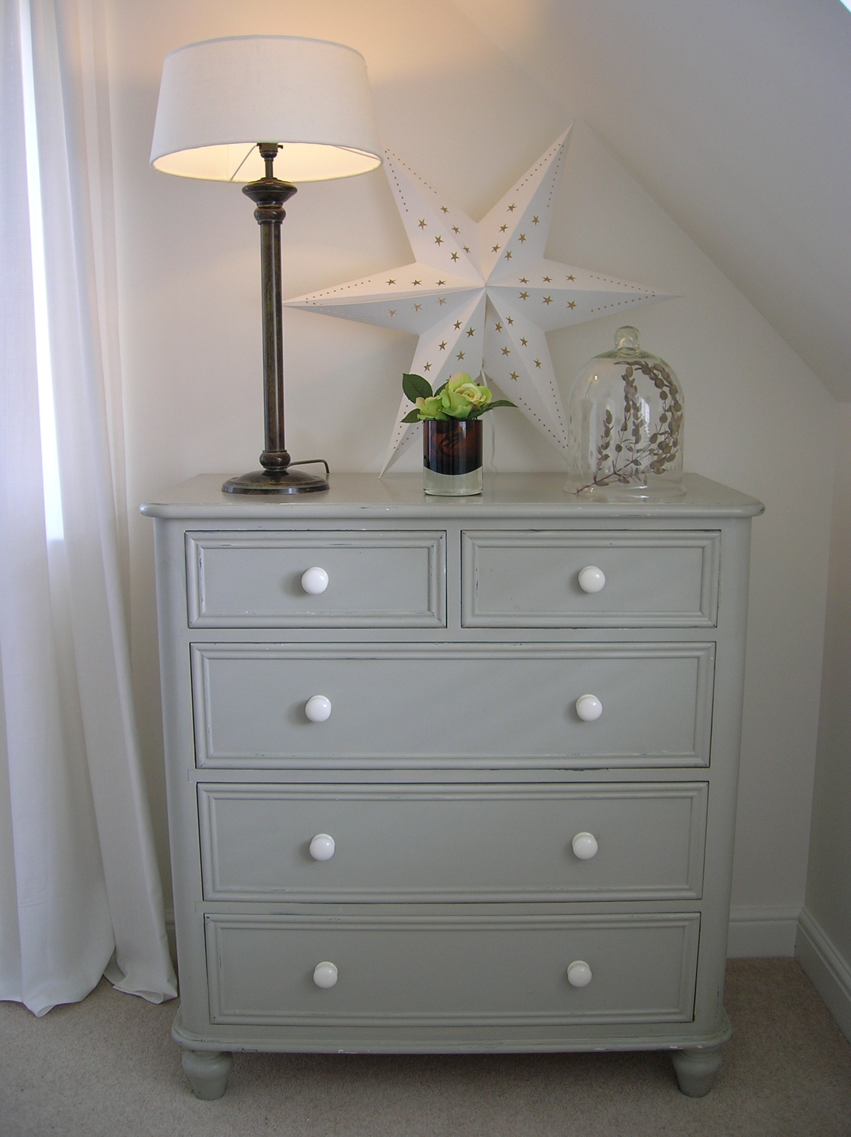 Farrow And Ball Painted Wardrobes Regarding Well Known Old Chest Of Drawers Painted In #farrow & Ball Hardwick White (View 6 of 15)