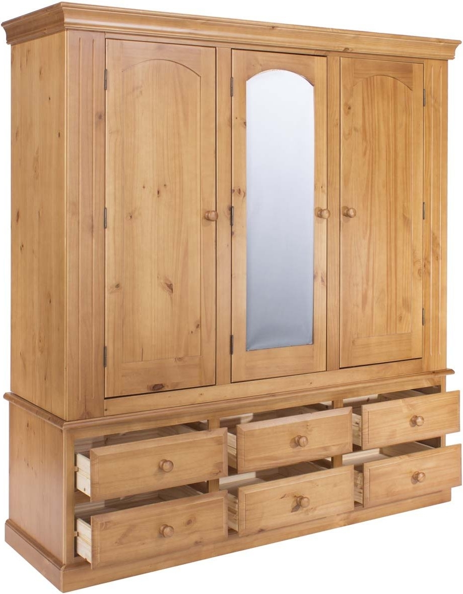 Fashionable 3 Door Pine Wardrobes With Regard To Core Products Ed586 Wardrobes (View 5 of 15)