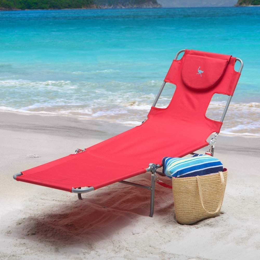 Fashionable Amazon: Ostrich Chaise Lounge, Red: Garden & Outdoor In Outdoor Folding Chaise Lounges (View 3 of 15)