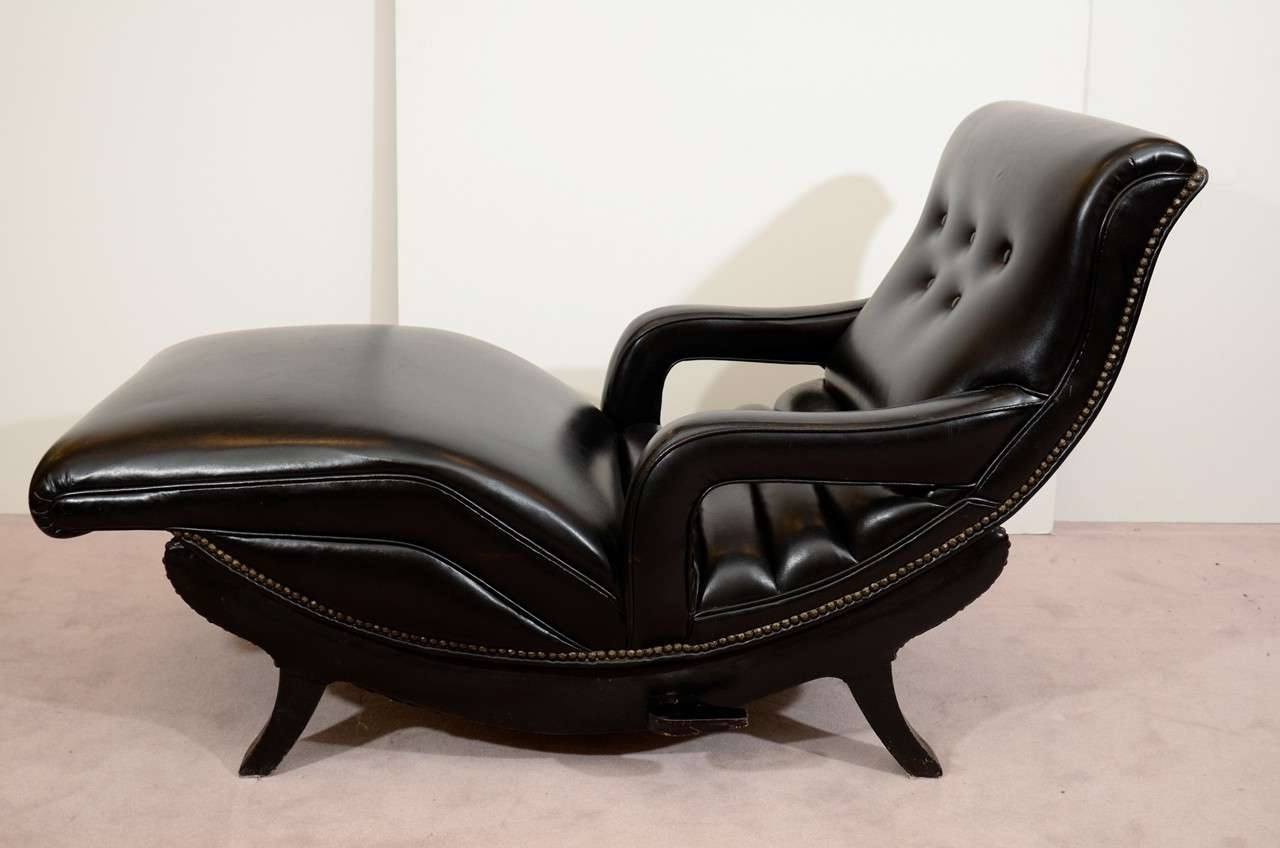 Fashionable Black Leather Chaise Lounge Sofa — Lustwithalaugh Design : Special With Regard To Black Leather Chaises (View 9 of 15)