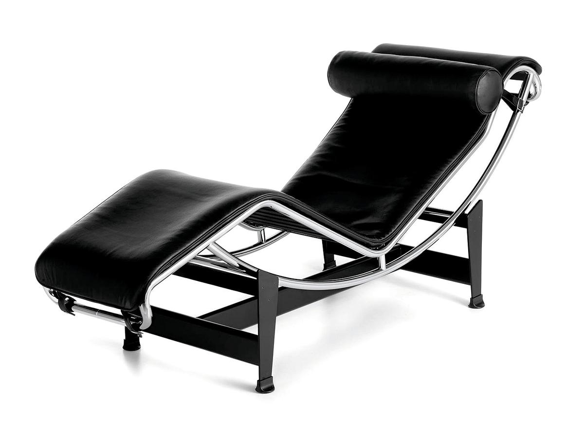 corbusier source lounge the products chaise le modern reproduction blk