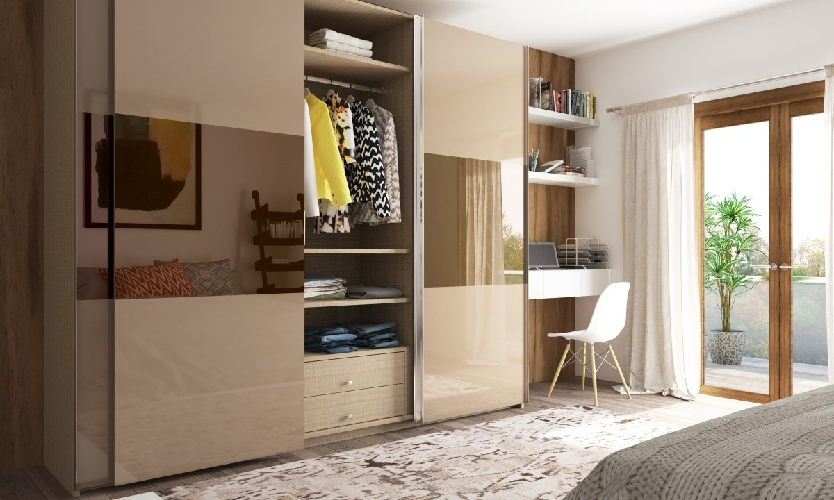 Fashionable Buy Aylin Sliding Door Wardrobe Online In India – Livspace Regarding Signature Wardrobes (View 5 of 15)