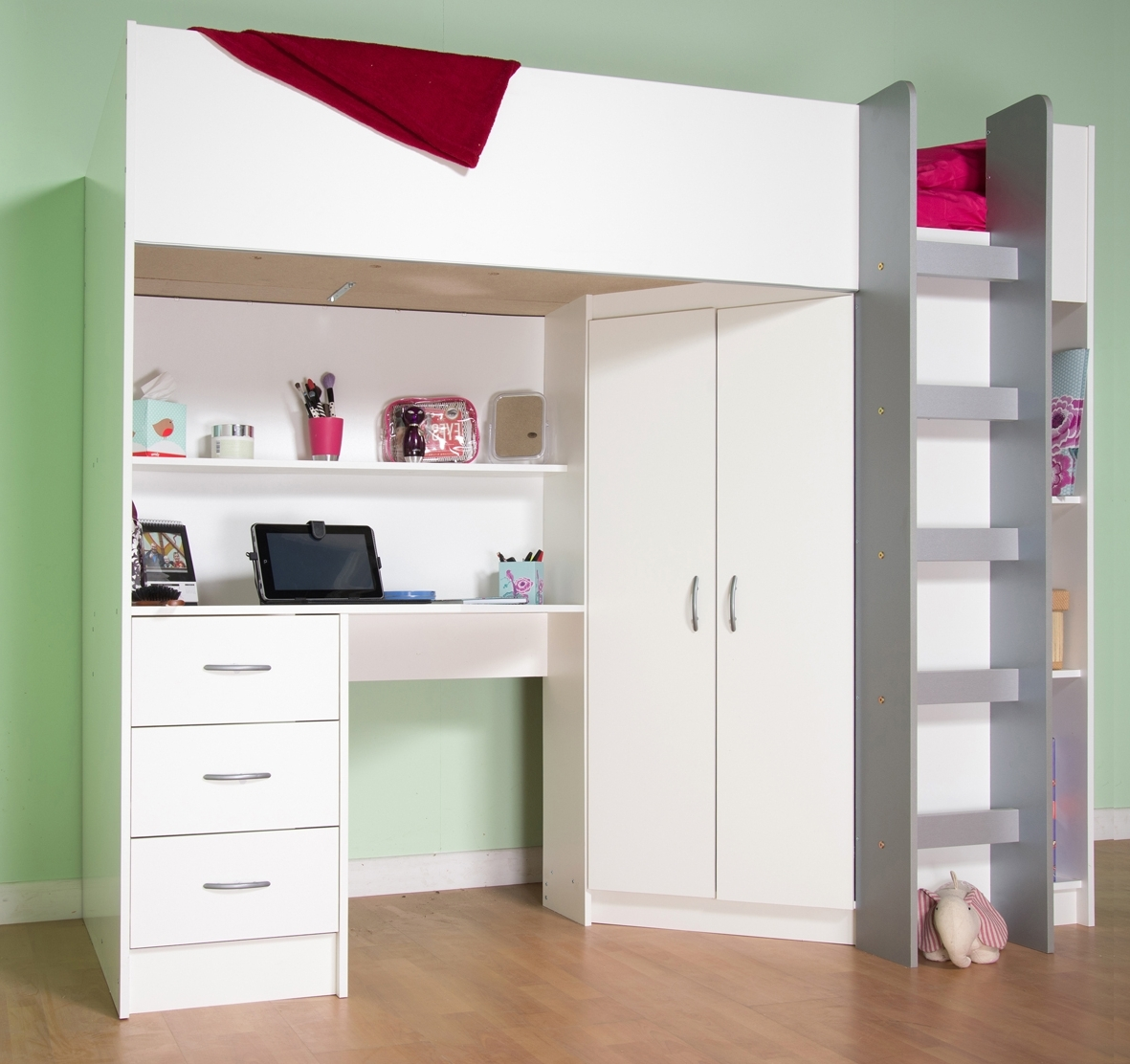 Fashionable Cabin Beds, Midi Beds, High Sleeper Beds, Childrens Beds, Teenager Throughout High Sleeper Cabin Bed With Wardrobes (View 4 of 15)