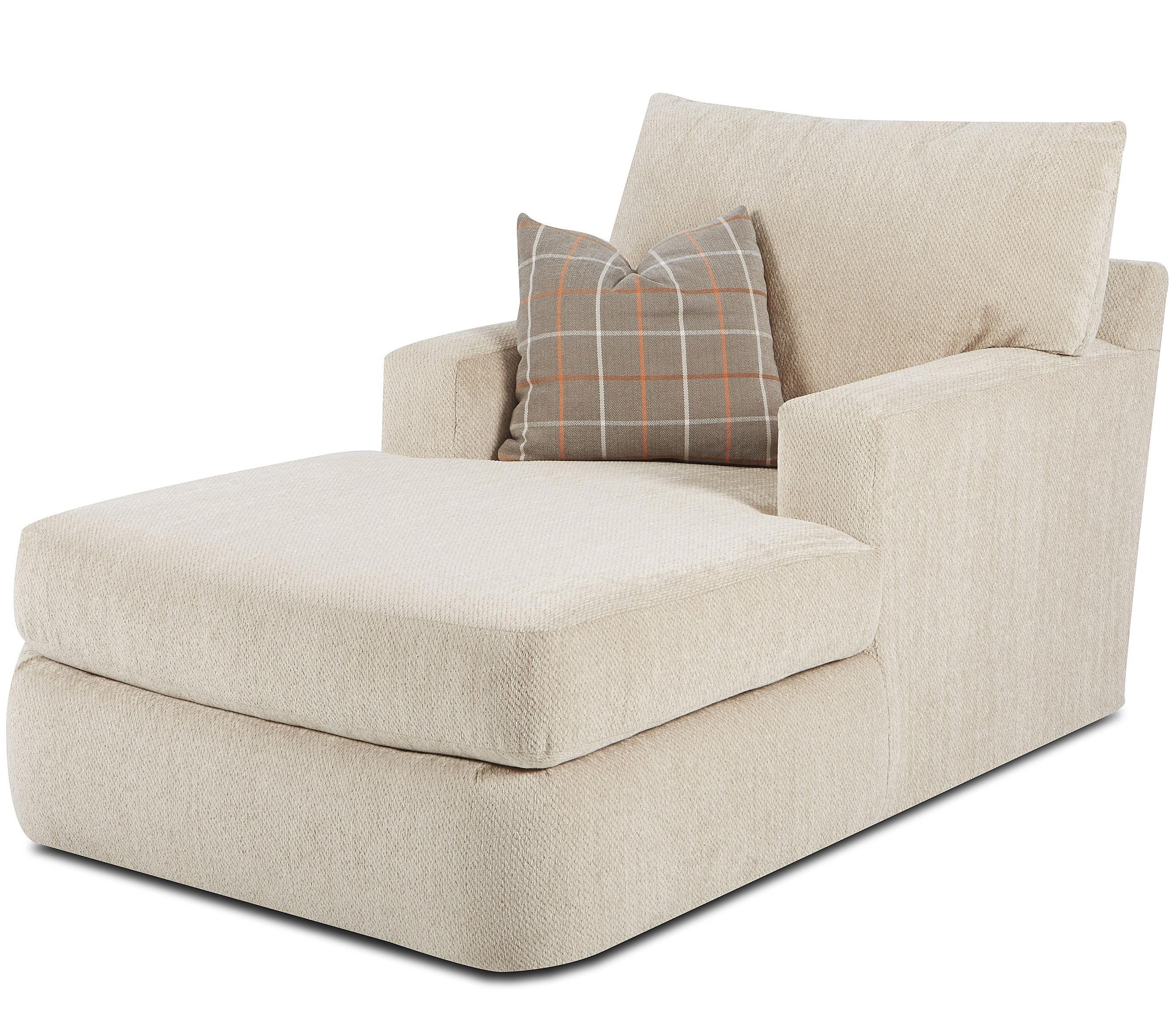 Fashionable Chaise Lounges With Arms In Klaussner Oliver Contemporary Track Arm Chaise (View 11 of 15)