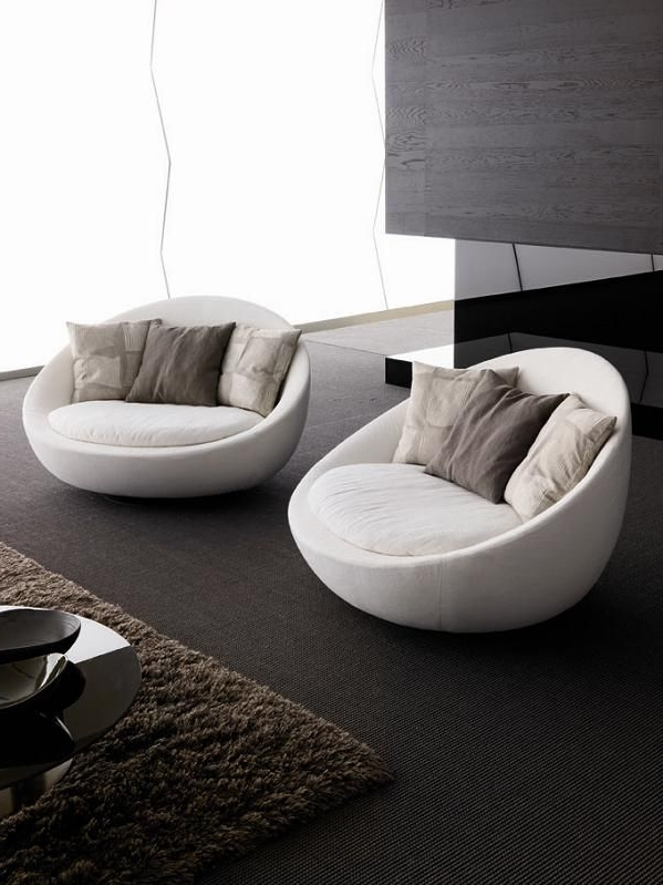 Fashionable Contemporary Sofa Chairs For Sofa : Marvelous Round Sofa Chair Living Room Furniture Designs (View 3 of 10)