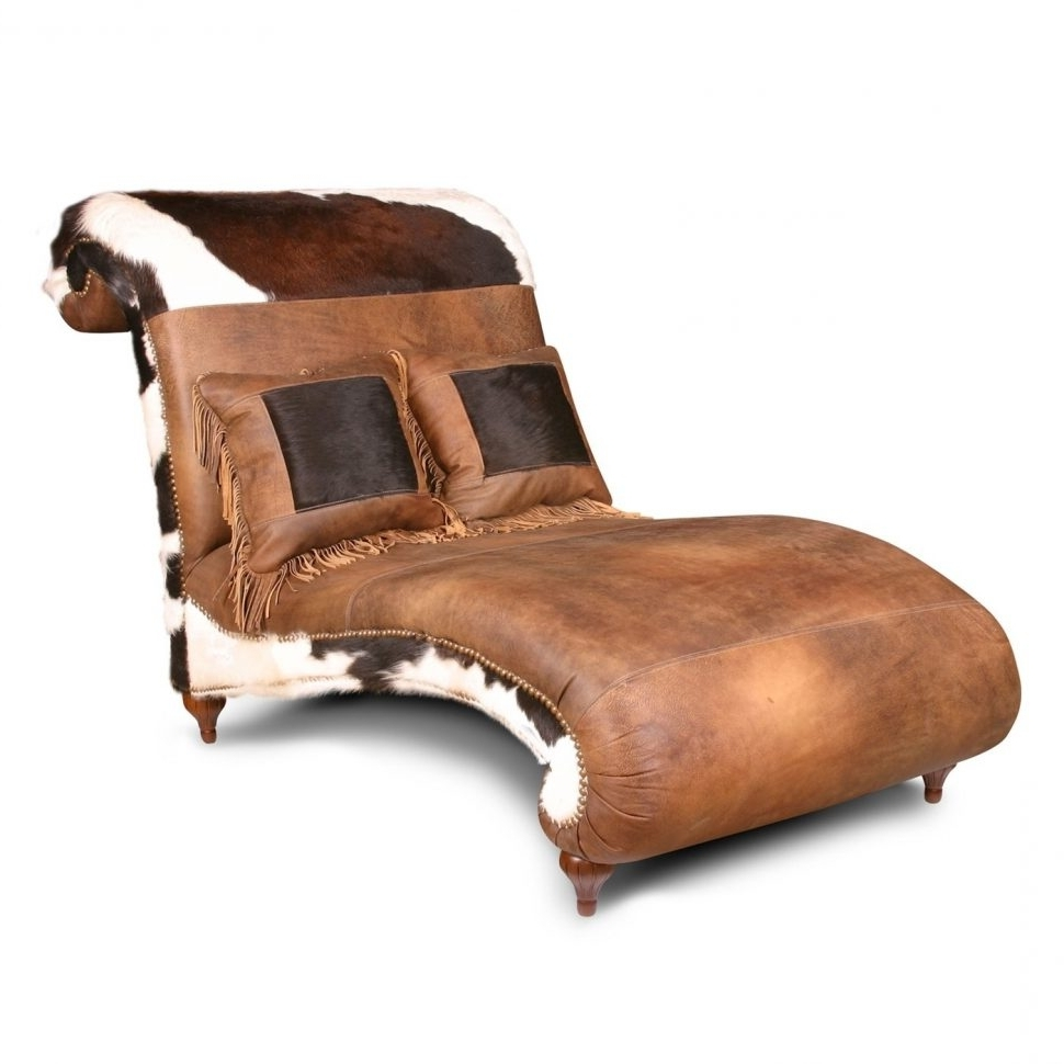 Fashionable Curved Chaise Lounges In Convertible Chair : Brown Leather Chaise Lounge Chair Vintage (View 10 of 15)