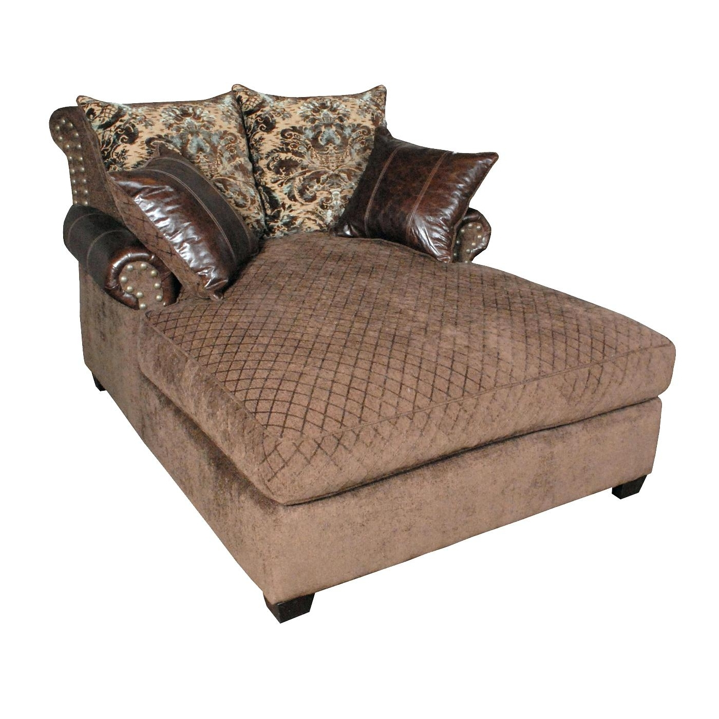 Fashionable Double Chaise Lounge Chair Cover • Chair Covers Ideas With Regard To Oversized Chaise Lounge Chairs (View 14 of 15)