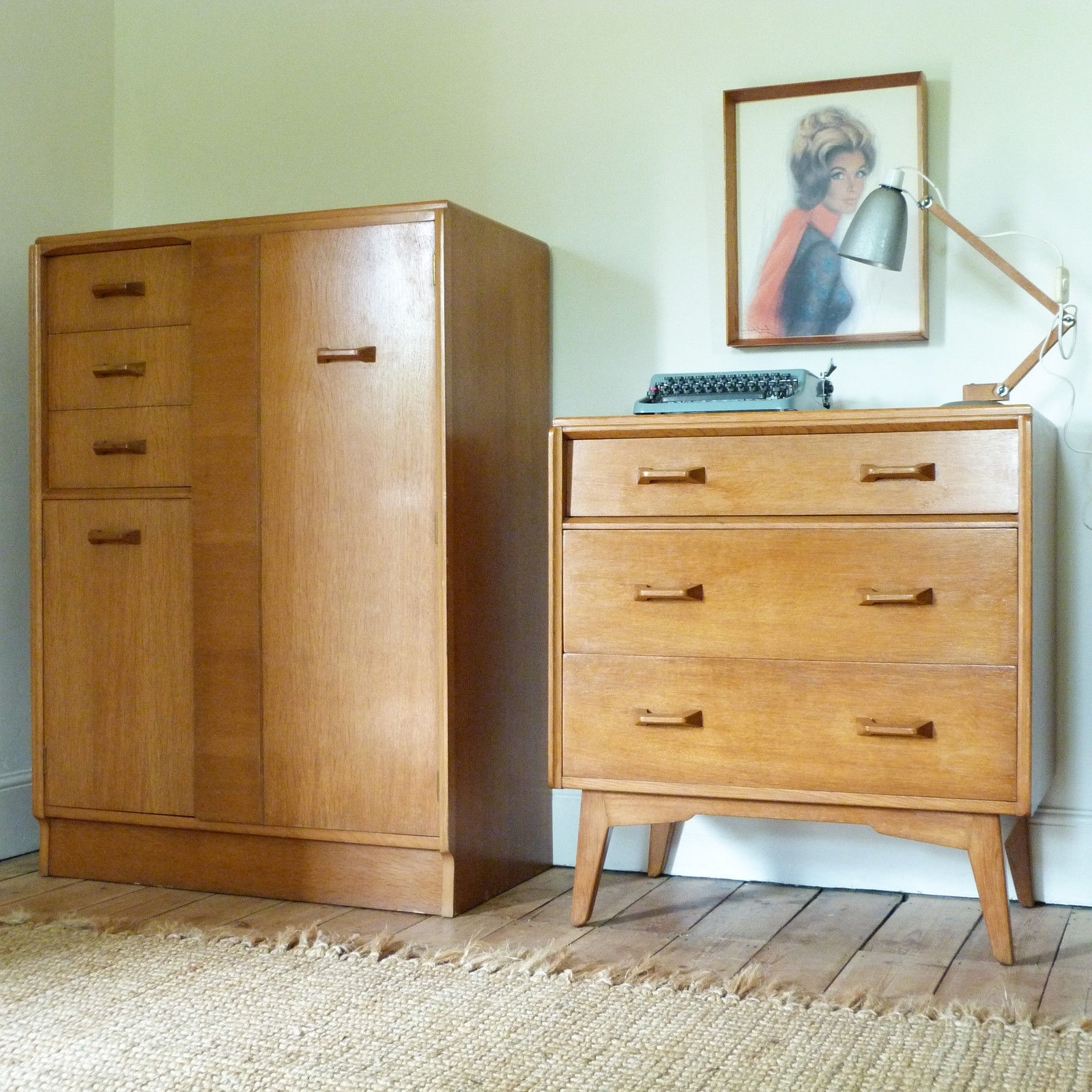 Fashionable ○ Vintage Mid Century 1950S G Plan Brandon Light Oak Tallboy Within Cheap Wardrobes And Chest Of Drawers (View 6 of 15)