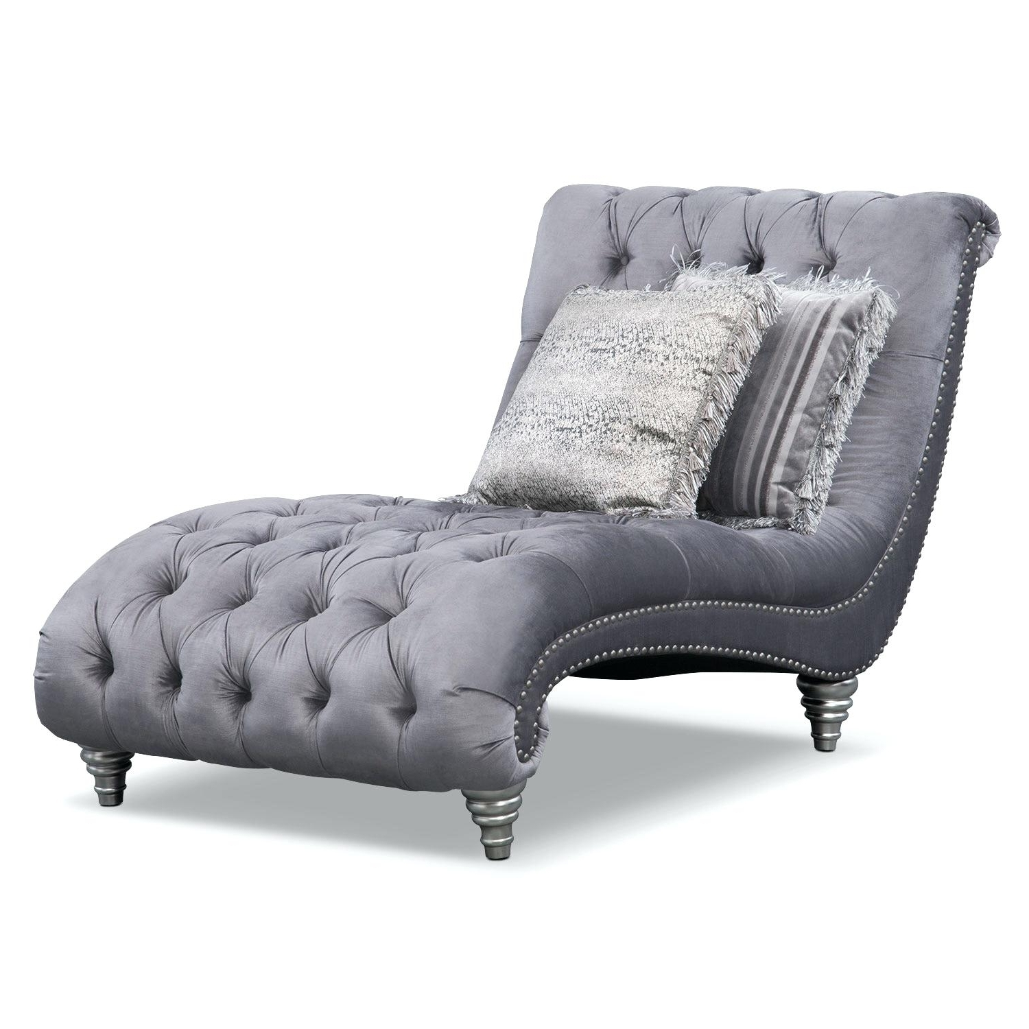 Fashionable Grey Chaise Lounges Inside Grey Chaise Lounge Chair • Lounge Chairs Ideas (View 3 of 15)