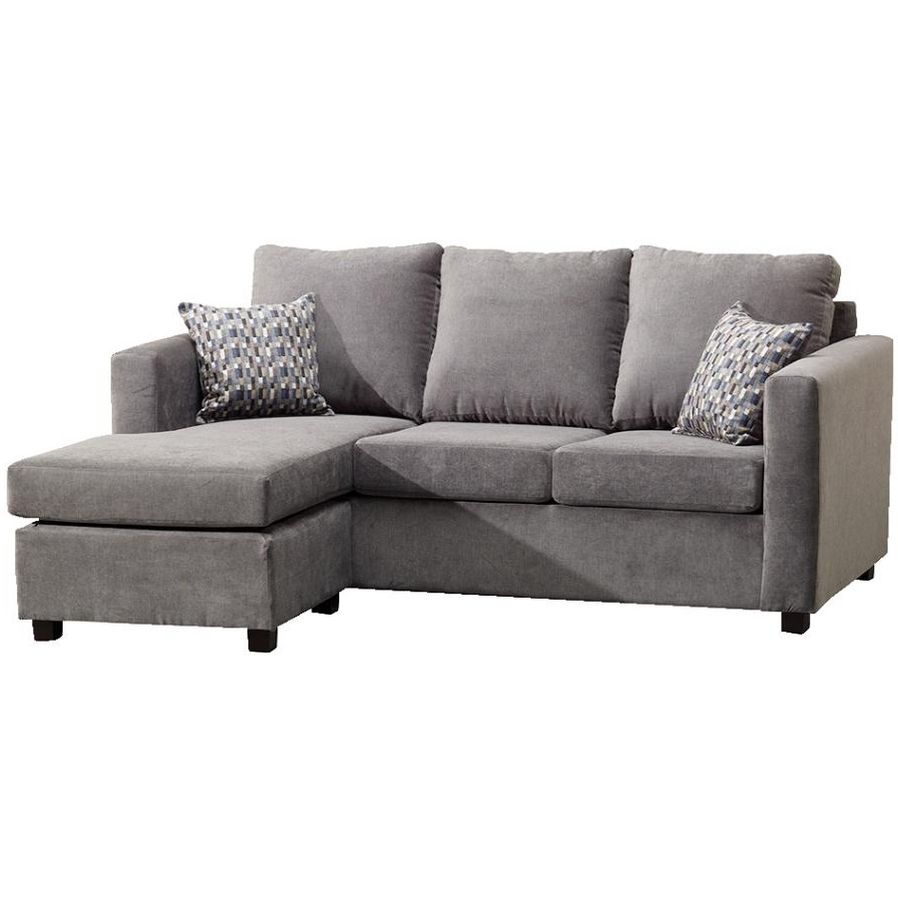 Fashionable Grey Sofa Chaises Throughout Grey Velvet Sectional Sofa Lovely Furniture Extraordinary Ideas (View 4 of 15)
