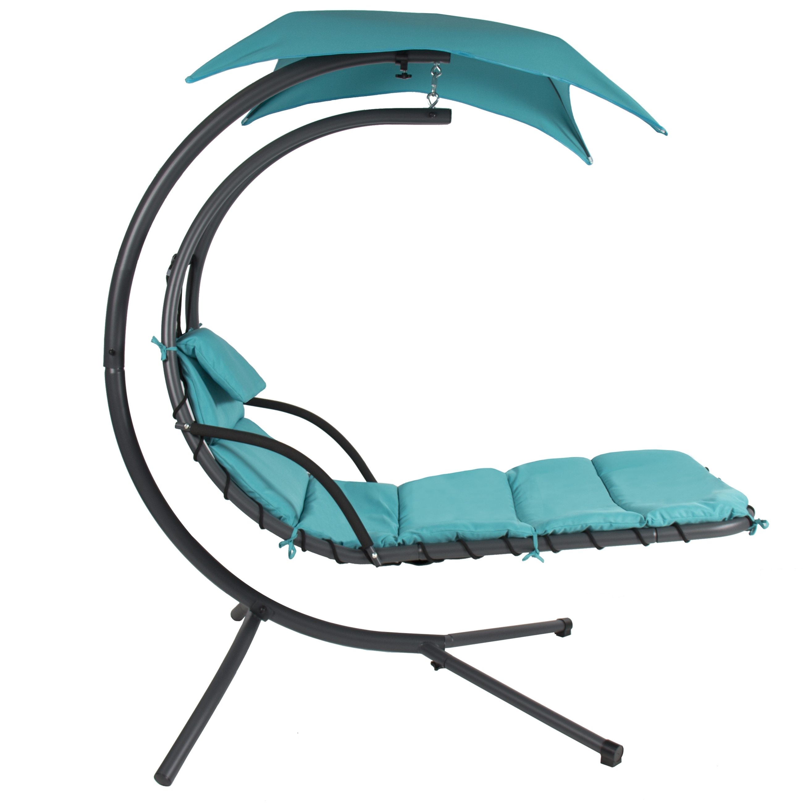 Fashionable Hanging Chaise Lounge Chairs With Regard To Hanging Chaise Lounger Chair Arc Stand Air Porch Swing Hammock (View 5 of 15)