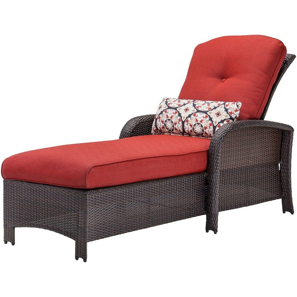 Fashionable Hanover Strathmere All Weather Wicker Patio Chaise Lounge Chair Throughout Chaise Lounge Chairs For Patio (View 7 of 15)