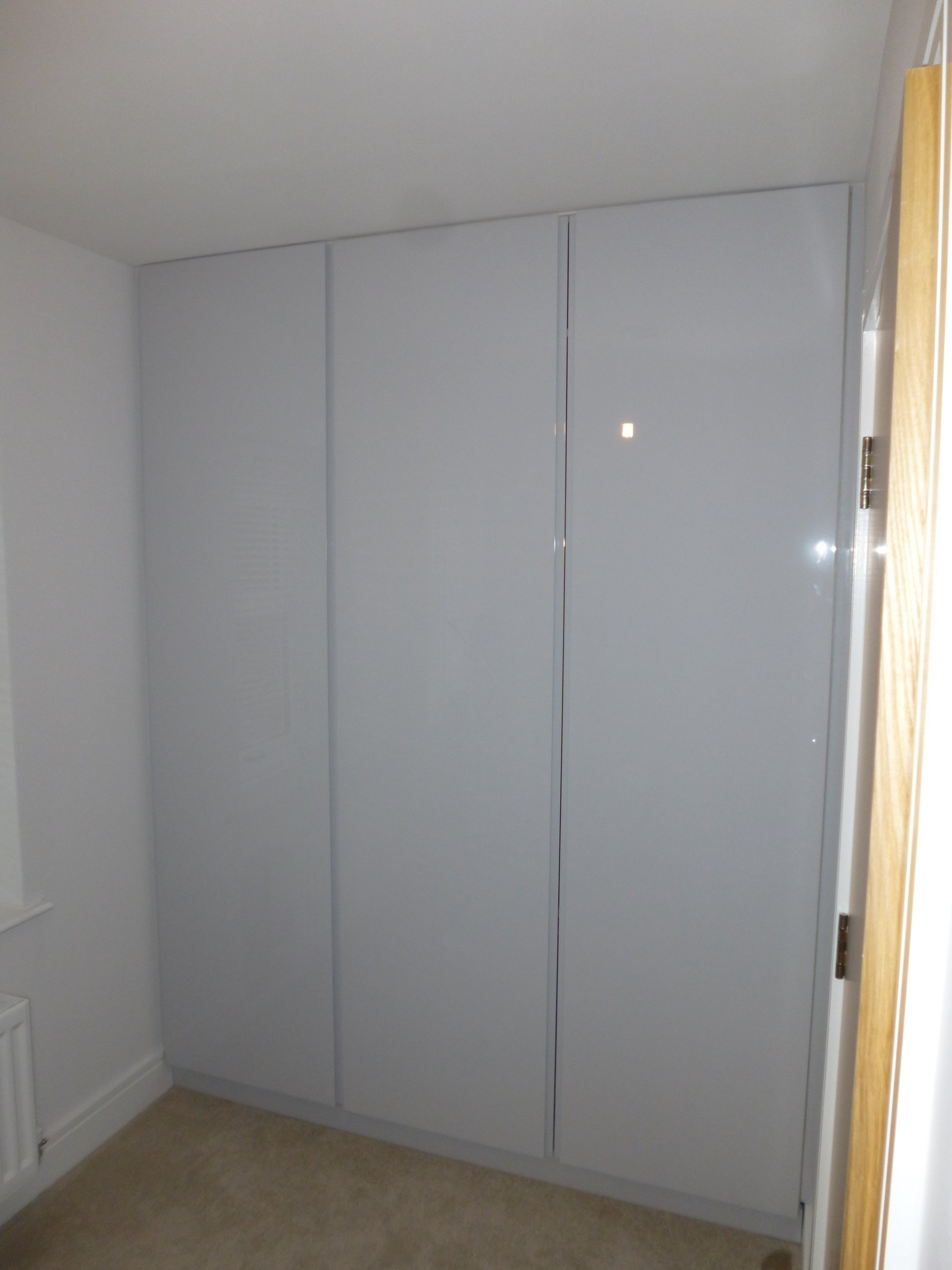 Fashionable High Gloss Doors Wardrobes Throughout Handle Less Hinged Doors Wardrobe Made From Spray Painted High (View 8 of 15)