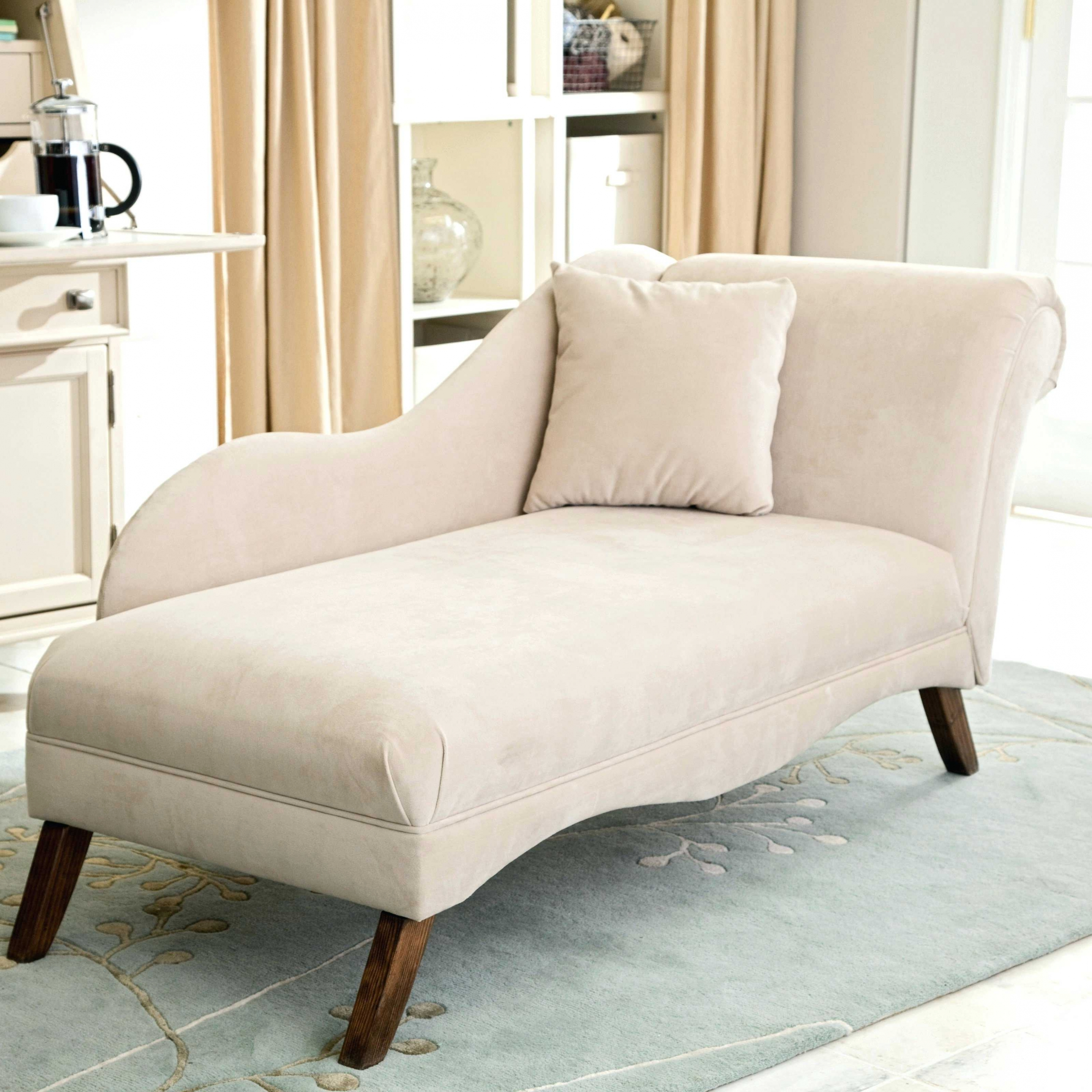 Fashionable Home Decor: Small Chaise Lounge Chairs For Bedroom French Style With Narrow Chaise Lounge Chairs (View 3 of 15)