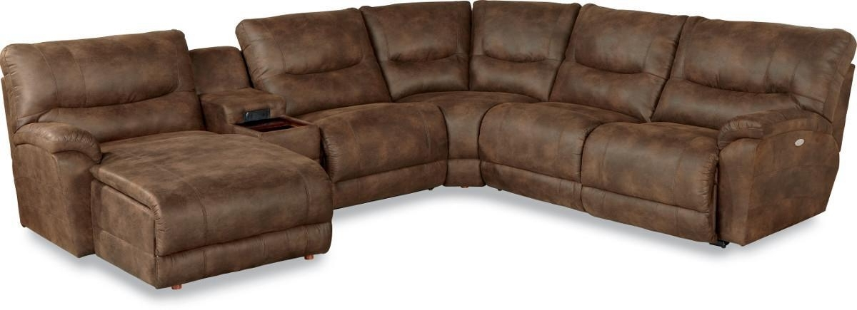 Fashionable La Z Boy Sectional Sofas Pertaining To Casual Six Piece Power Reclining Sectional Sofa With Las Chaise (View 4 of 10)