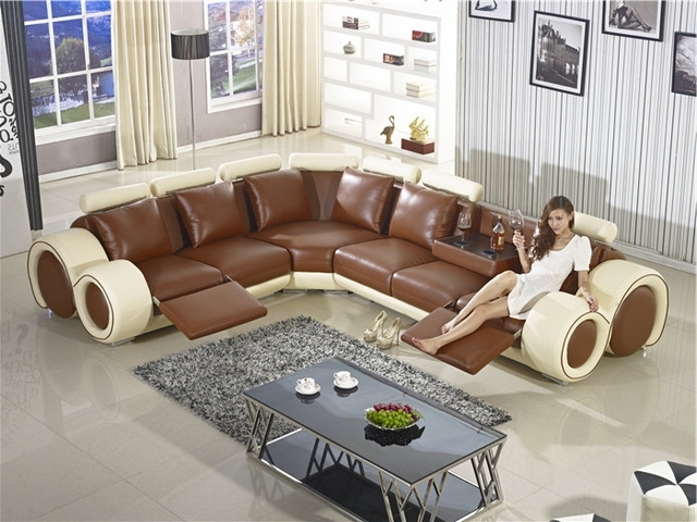 Fashionable Large Sofa Chairs With Recliner Sofa New Design Large Size L Shaped Sofa Set Italian (View 4 of 10)