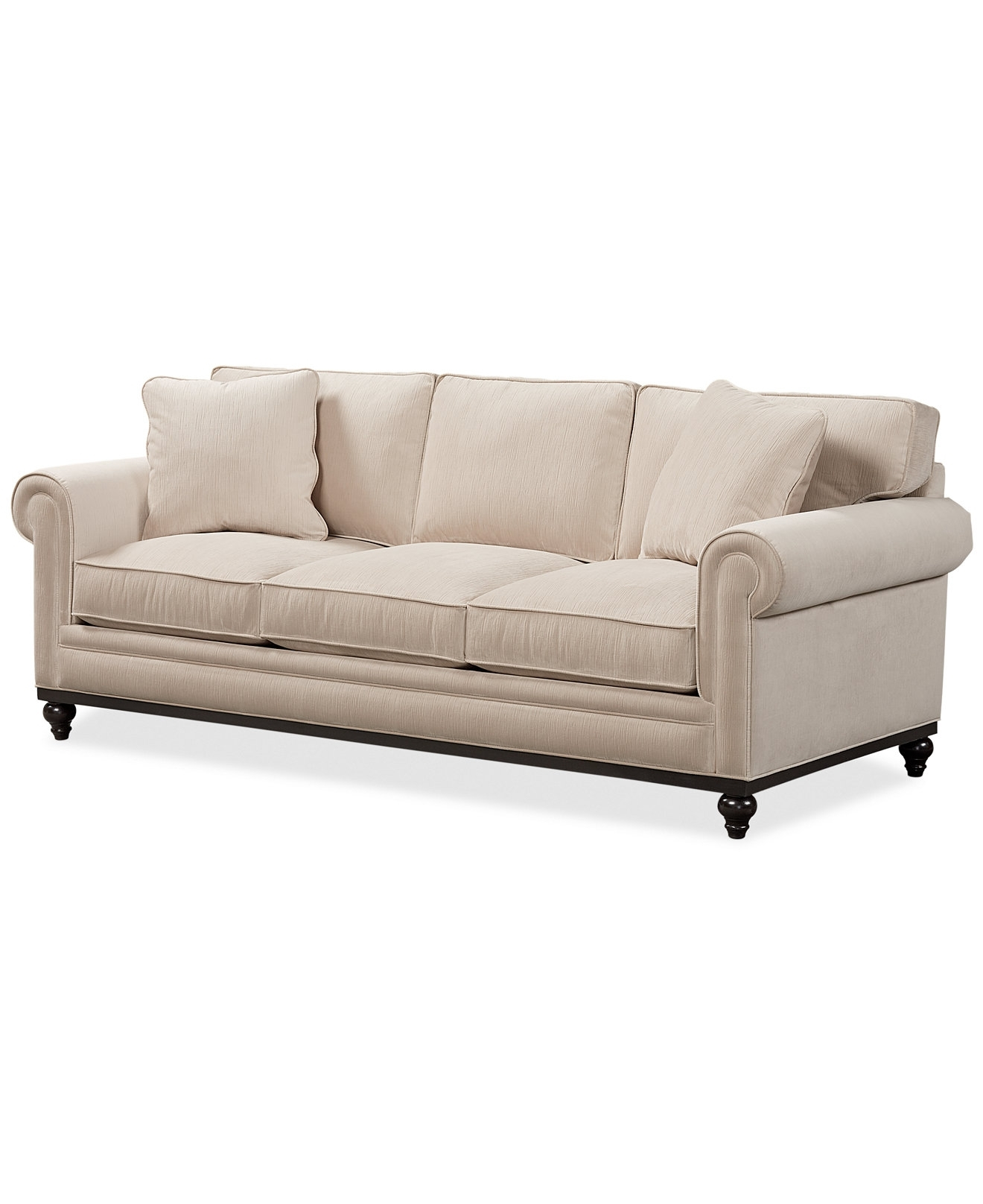 Fashionable Martha Stewart Collection New Club Fabric Roll Arm Sofa – Couches Throughout Chaise Lounge Chairs At Macy's (View 12 of 15)
