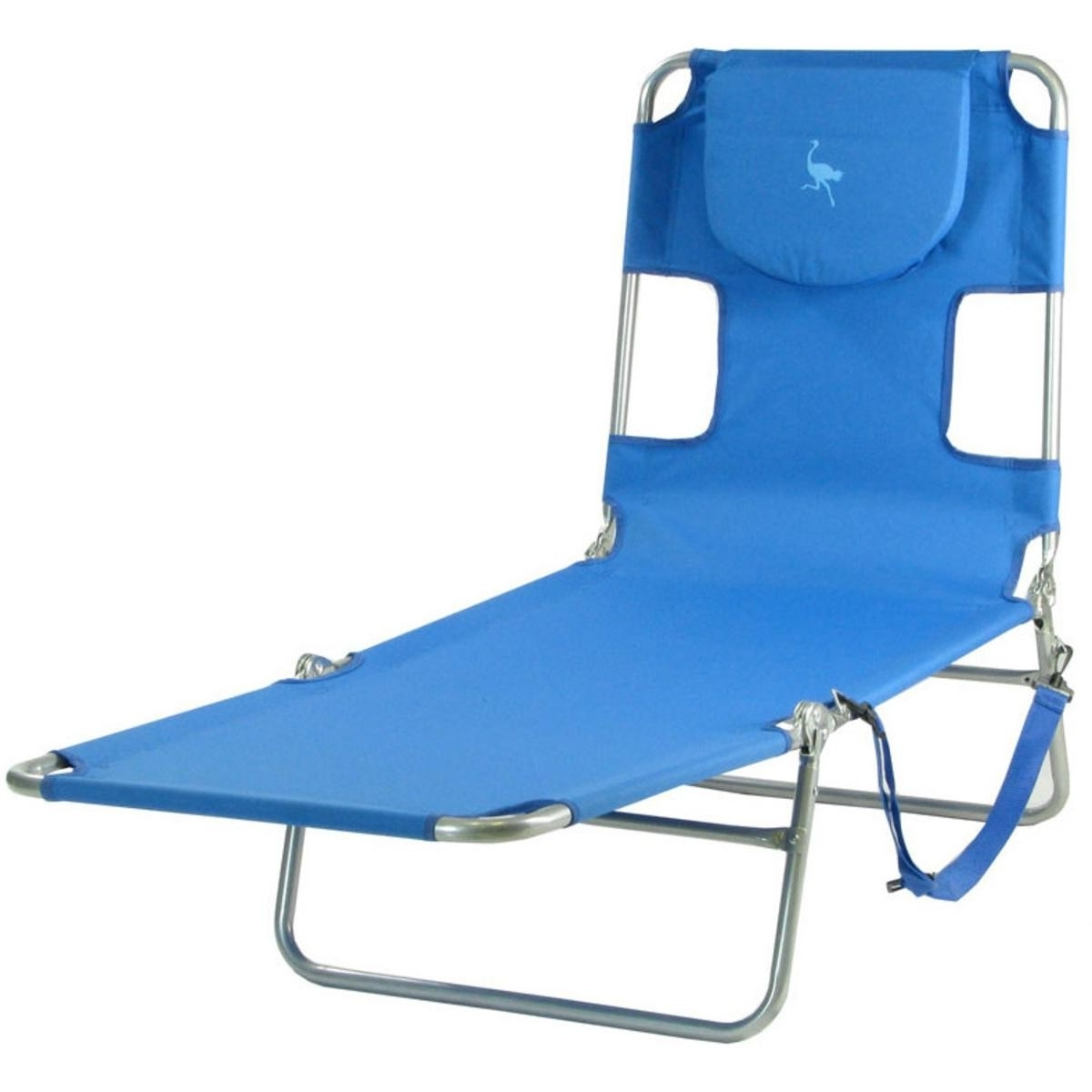 Fashionable Ostrich Mp102 Folding Beach Chaise Lounge Ocean Blue In Beach Chaise Lounge Chairs (View 9 of 15)