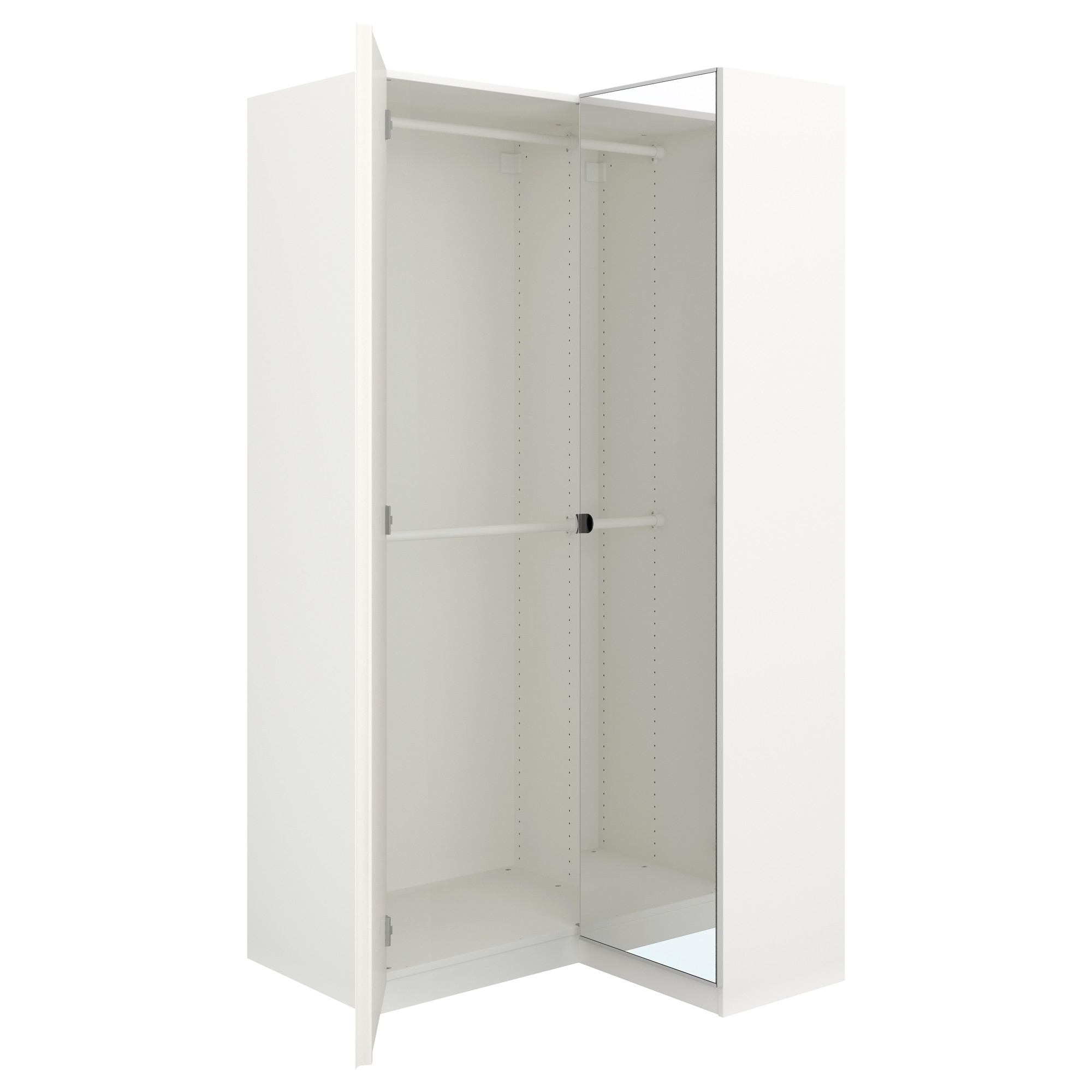 Fashionable Pax Corner Wardrobe White/fardal Vikedal 111/88X201 Cm – Ikea In Corner Mirror Wardrobes (View 5 of 15)