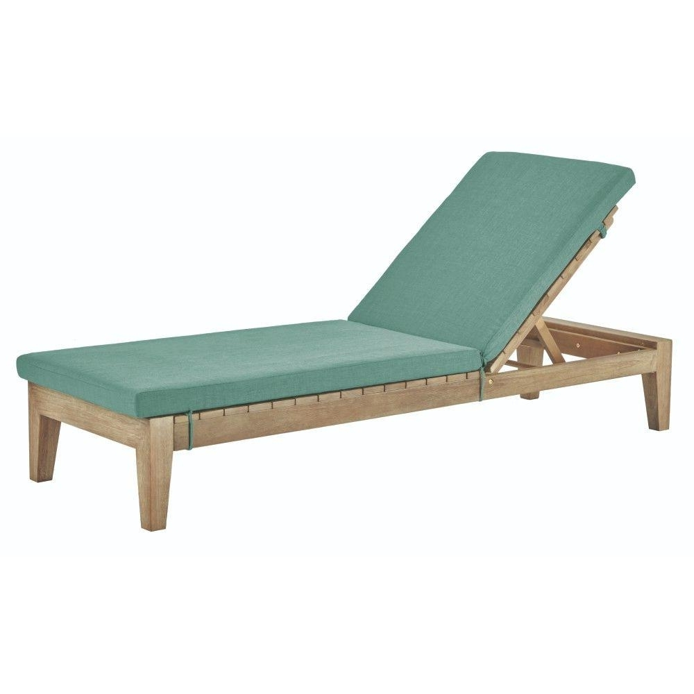 Fashionable Pvc Outdoor Chaise Lounge Chairs With Regard To Eucalyptus – Outdoor Chaise Lounges – Patio Chairs – The Home Depot (View 7 of 15)