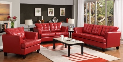 Fashionable Red Leather Couches For Living Room Pertaining To Enchanting Red Leather Couch Furniture Design For Modern Living (View 4 of 10)