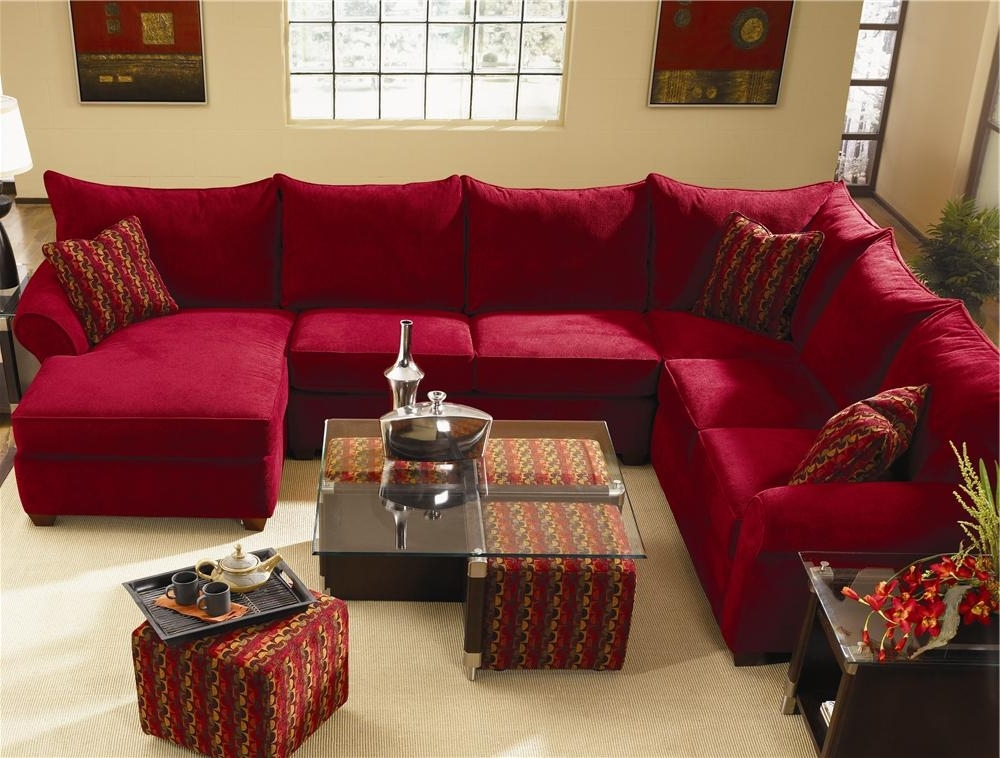 Fashionable Red Leather Sectionals With Chaise Within Sectional Sofa Design: Wonderful Red Sectional Sofa With Chaise (View 4 of 10)