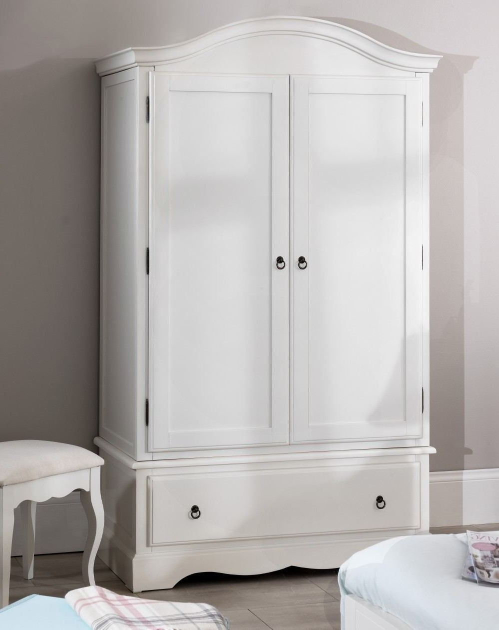 Fashionable Romance Double Wardrobe, Stunning French Antique White Wardrobe Throughout White French Wardrobes (View 4 of 15)