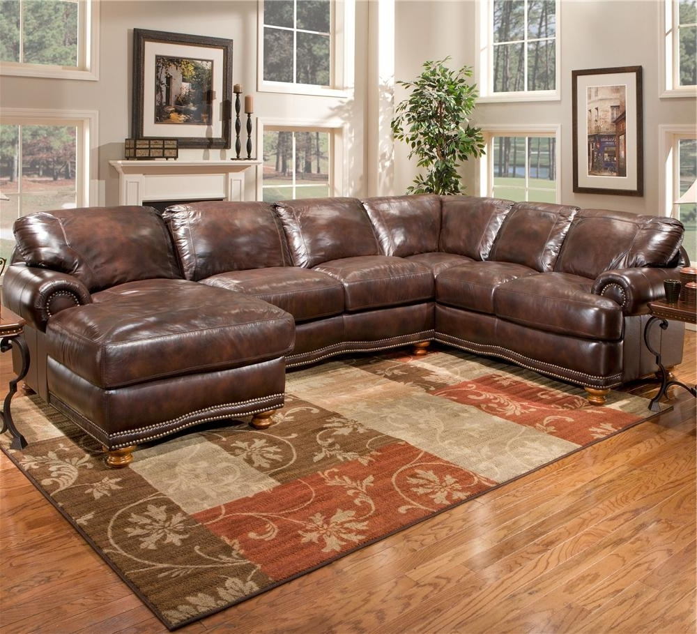 Fashionable Sofa ~ Luxury Leather Sectional With Chaise Leather Sectional Sofa Within Leather Chaise Sectionals (View 3 of 15)
