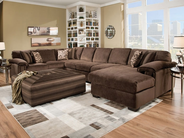 Fashionable Sofas With Large Ottoman With Regard To Sectional Sofa: Extra Ordinary Large Sectional Sofa With Ottoman (View 2 of 10)