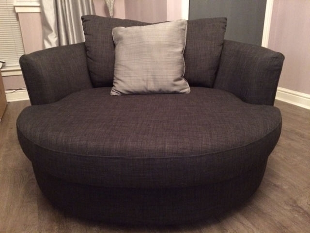 Fashionable Swivel Sofa Chairs Within Sofa : Impressive Round Swivel Sofa Chair 86 Round Swivel Sofa (View 3 of 10)