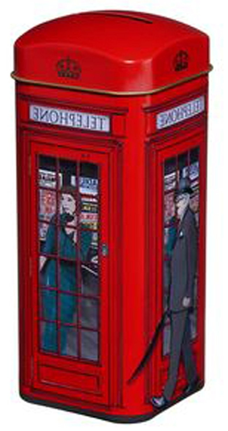 "Fashionable Telephone Box Wardrobes For Englishtea, ""red Telephone Box Tea Tin"" – Traditional English (View 4 of 15)"