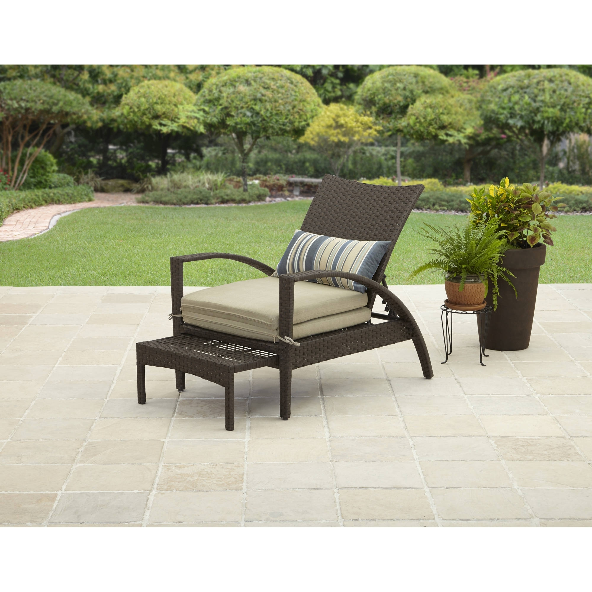 Fashionable Walmart Outdoor Chaise Lounges In Better Homes And Gardens Avila Beach Pull Out Chaise – Walmart (View 4 of 15)